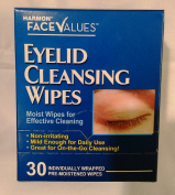 Harmon Face Values Eyelid Cleansing Wipes 30 ct Box