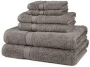 DIA 6-Piece Egyptian Cotton Towel Set - Grey