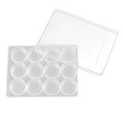 Mini 12 Slots Clear Plastic Jewellery Storage Makeup Craft Organiser Box Case