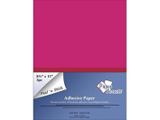 Self Adhesive Paper 8.5x11 3pc Neon Pink