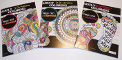 Adult Colouring Books (Inspirational Quotes, Mandalas, Pattern) Set of 3