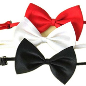 ULAKY 3Pcs Lovely Adjustable Dog Cat Puppy Pet Bow Tie Necktie Collar Clothes Toy