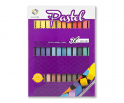 Soft Pastel Drawing Chalk Pastels 36 Assorted Colours CONDA Assorted Colours