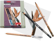 Royal Talens BRUYNZEEL Specialty Pencil Set of 12 Pencils for Figure Drawing