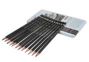 Clobeau Premier 12-piece Graphite Drawing Pencils Professional Art Supplies Sketching Painting Art Set in Metal Tin Case