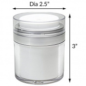 Airless Pump Bottle 1.8 0z Refillable Lotion Bottle- Liquid Dispenser Pump- Perfect for Travel Size Lotion, Makeup, Shower Gel- BPA Free