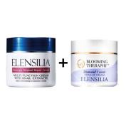 Korean Cosmetics Elensilia Escargot Original Repair Cream with Snail Extracts 50g +Elensilia Blooming Theraphy Diamond 1 Carat Tone-up Cream