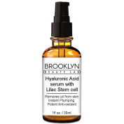 Brooklyn Beauty Lab-Hyaluronic Acid Anti-Ageing Serum With Lilac Stem Cell – Nourishing Moisturiser Anti-Acne And Oily Shine Gel Formula For Face – Removes Oil From Skin –Potent Anti-Oxidant