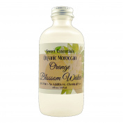 Organic Moroccan Orange Blossom (Neroli) Water | 120ml Glass Bottle | Imported From Morocco | Edible | Packed With Natural Antioxidants | Perfect for Reviving, Hydrating & Rejuvenating Your Face & Neck