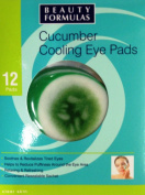 Beauty Formulas 12 Cucumber Cooling Eye Pads X 3 Packs (36 Pads.