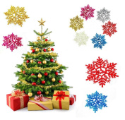 Sunfei New Classic Multicolor Snowflake Ornaments Christmas Holiday Party Home Decor