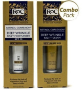 Roc Retinol Correxion Deep Wrinkle Night Cream, and Daily Moisturiser Spf 30 1.1 Fluid Ounces Each Box (Combo...