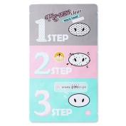 Holika Holika Pig Nose Clear Black Head 3-step Kit (5pcs) [Korean Import] by Beautyshop