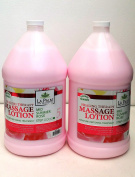 7.6l Size - Healing Therapy Massage Lotion - Mid Summer Rose + FREE 4 Fanta sea Disposable Head Band