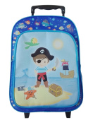 Idena Children's Luggage , Pirate (Blue) - 22045