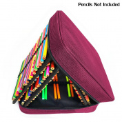 Corasays 160 Slots Pencil Case - Handy Multi-Layer Large Zipper Bag for for Coloured Pencils, Watercolour Pens, Gel Pen, Colour Pen, Cosmetic Makeup Brush and More