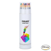 Coloured Pencils 24 Colouring Pencils Premium Art Drawing Pencil for Adults Colouring Book by FUNLAVIE