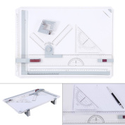 A3 Drawing Table Board , Adjustable Measuring System Angle Parallel Motion Drawing Board