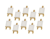 Z-colour 10 sets Mini Display Easel WIth Canvas 7×7cm Wedding Table Numbers Painting Hobby