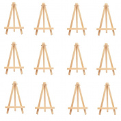 12 Pcs Mini Wood Display Easel Wedding Place Name Card Holder Stand By Crqes