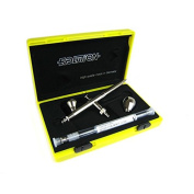EVOLUTION SILVERLINE Airbrush 2 in One with 2 & 5 ml cup and 0.2 and 0.4 mm nozzle set Harder & Steenbeck 126003