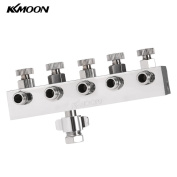 KKmoon High-quality 5-Way Airbrush Air Hose Splitter With Regulated Metering Manifold & 0.6cm BSP Female Inlet + 0.3cm BSP Male Air Outlet