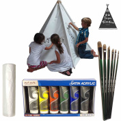 Canvas Teepee Kids Paint Party Acrylic Paint Set - Paint Your Own Teepee by Teepee Freedom