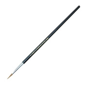 CLI Round Camel Hair Paint Brushes - 12 Brush(es) - No. 6 - Aluminium Ferrule - Wood Handle - Black