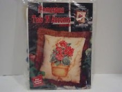 Homespun Tole 'N Accents #95-1706-00 POTTED GERANIUM, Set of Two Wall Hangings