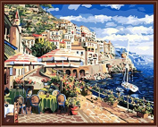 Beach City Landscape Painting Art Home Furnishing Wall Decoration Wall Decoration 40X50Cm G290