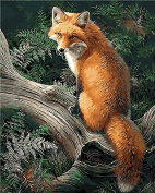 No Frame Fox Animals Diy Painting By Numbers Kits Paint On Canvas Acrylic Colouring Painitng By Numbers For Home Wall Decor 40X50