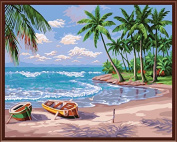 Holiday Beach City Landscape Painting Art Home Furnishing Wall Decoration Wall Decoration Modern Abstract Oil Painting Q414