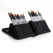 Jadebird Paint Brushes Set - 26 Pc Brush Set for Watercolour, Acrylic, Oil & Face Painting