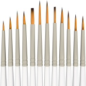 Home Office U.D. - Paint Brush Set Acrylic 12pcs Professional Paint Brushes Artist for Watercolour Oil Acrylic Painting