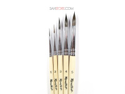 PURE SQUIRREL PROFESSIONAL 5 Brush Set Russian Roubloff