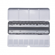 MEEDEN Empty Metal Watercolour Tins Box