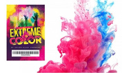 colour POWDER GENDER REVEAL KIT - 0.5kg. Pink and 0.5kg. Blue powder - Made in the USA