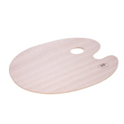 KKmoon Classic Handheld Oval Wood Palette Art Paint Mixing Tray 4030cm/15.7511.81in