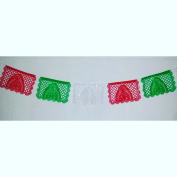 "Medium PLASTIC Virgin Mary / Virgen de Guadalupe Papel Picado ""NUESTRA SEÑORA"" - 4.9m Long Banner (12 Panels) - Designs and Colours as Pictured By Paper Full of Wishes"