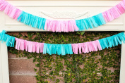 Gender Reveal Hawaiian TISSUE Garland Mini Skirt Over 2.7m Long