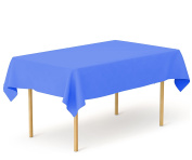 Tiger Chef 1-Pack Medium Blue Heavy Duty Plastic Tablecloth Reusable, 140cm x 270cm Table Cover Plastic, Available in 20 colours