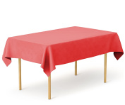 Tiger Chef 1-Pack Red Heavy Duty Plastic Tablecloth Reusable, 140cm x 270cm Table Cover Plastic, Available in 20 colours