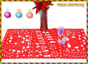 Feliz Navidad, Mexican Christmas Decor, Red Table Runner, Holiday Decorations, Holiday Party Decor