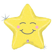 Chubby Star Mylar Balloon