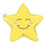 Chubby Star Mylar Balloon