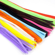 "12 ""6mm 100pcs Multicolour Chenille Stems Pipe Cleaners Handmade Diy Art & Craft"