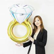 Diamond Ring Balloon 90cm Wedding Shower Birthday Party Supplies Foil Mylar Helium Balloons Decorations Celebrate