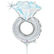 Air Filled Wedding Ring Mylar Balloon