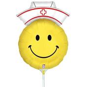 Air Filled Smiley Nurse Mylar Balloon