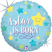 A Star Is Born Boy Mylar Balloon